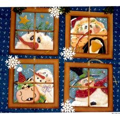 The Decorative Painting Store: Four Winter Windows DOWNLOAD, e-Patterns