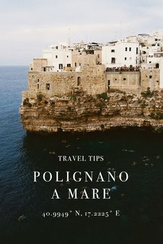 Polignano A Mare, Italy Travel Tips Places To Travel, Places To See, Travel Destinations, Italy Culture, Italy History, Italy Travel Tips, Winter Travel, Beach Trip, Where To Go