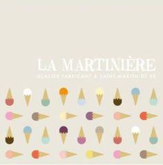 La Martiniere ice-creams. Ile de Re. We like it very much here :-)