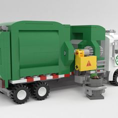 Garbage Collection, Lego Truck, Garbage Truck, Lego Models, Lego City, Legos, Trucks, Product Ideas, Toys