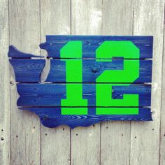 Recycled Pallet Seattle Seahawks 12th Man by IronBarkDesigns