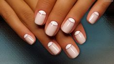 Opting for bright colours or intricate nail art isn't a must anymore. This year, nude nail designs are becoming a trend. Here are some nude nail designs. Half Moon Manicure, Moon Nails, Manicure And Pedicure, Reverse French Nails, Reverse French Manicure, Gorgeous Nails, Pretty Nails, Pink Nails, Nail Manicure