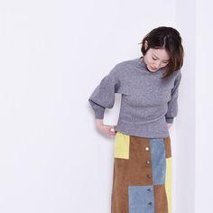POUDOUDOU  STAFF COORDINATE ---------------------------------------------------- knit 5200tax skirt 5900tax (model murata fromurata MYRORD shinjuku)  #poudoudou#pdd16aw
