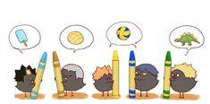Just a tons of Haikyuu photos. Kageyama X Hinata, Haikyuu Karasuno, Haikyuu Fanart, Haikyuu Anime, Oikawa, Haikyuu Volleyball, Volleyball Anime, Chibi Characters, Haikyuu Characters