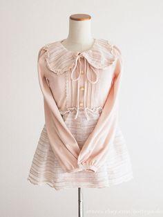 LIZ LISA Spring Ribbon Tulle OP Tunic Dress Sweet street Lolita Kawaii Japan #LIZLISA #PeplumTunic #Party