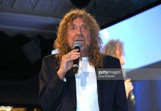 Robert Plant on stage at the Nordoff Robbins O2 Silver Clef Awards at The Grosvenor House Hotel on June 30, 2017 in London, England.  (Photo by David M Benett/Dave Benett/Getty Images)