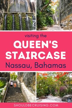 If you love history, taking a quick stroll over to the Queen's Staircase from the cruise port won't disappoint. The 66 Steps are a must-see free attraction if you're visiting Nassau, Bahamas on a cruise. Packing List For Vacation, Vacation Trips, Nassau Bahamas, Caribbean Vacations, Worldwide Travel, Travel Usa, Travel Inspiration, Travel Destinations, Central America