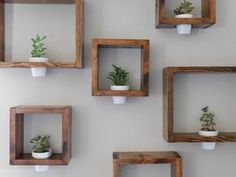 Wall planter – Framed Wall Planter – Wooden Wall Planter- Succulent Planter – Wooden Planter – Mini Planter – Wall Art – Floating Planter - Home Decor Plant Wall, Plant Decor, Wooden Planters, Wall Planters, Concrete Planters, Succulent Planters, Succulents Garden, Cactus Plants, Air Plants
