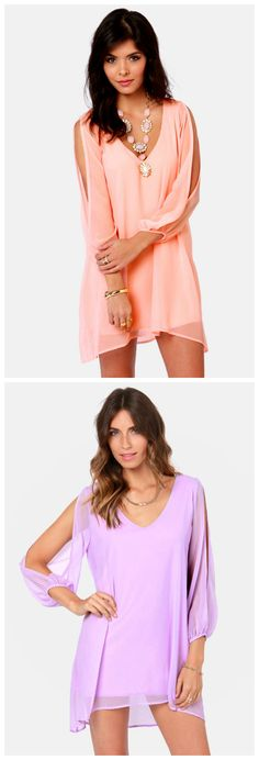Shifting Dears Long Sleeve Dresses via lulus.com