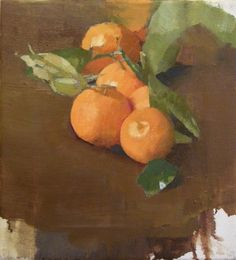 Diarmuid Kelley works | Offer WatermanUNTITLED (CLEMENTINES), 2010 oil on linen 11.75 by 11 inches