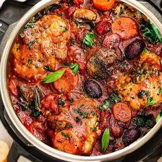 Instant Pot Chicken Cacciatore | Easy Paleo + Keto Chicken Recipe
