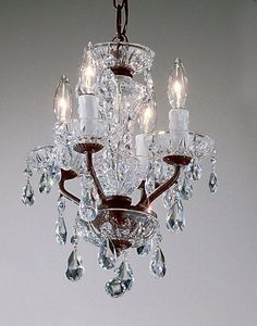 """Buy the Classic Lighting 8384 EB C Crystalique Direct. Shop for the Classic Lighting 8384 EB C Crystalique 15"""" Crystal Mini-Chandelier from the Daniele Collection and save."""