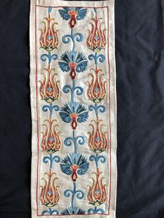 Uzbek Handmade Silk Suzani, New, Shipped from USA Greek Islands, Hand Embroidery, 19th Century, Elsa, Handmade Gifts, Textiles, Quilts, Crochet, Unique