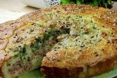 Turte cu brânză și verdeață. Ar fi bine să faceți deodată mai multe! - Bucatarul Salmon Burgers, Bon Appetit, Bagel, Quiche, Banana Bread, Deserts, Baking, Breakfast, Ethnic Recipes