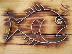 Welded Burnt Fish art by Wolfgang