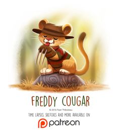 Day 1429. Freddy Cougar by Cryptid-Creations Time-lapse, high-res and WIP sketches of my art available on Patreon (:Twitter • Facebook • Instagram • DeviantART