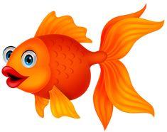 Illustration about Illustration of Cute golden fish cartoon. Illustration of look, comic, orange - 33242475