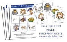 Hansel and Gretel bingo #party #game #free