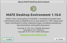 The MATE Desktop Environment is the continuation of GNOME 2. It provides an intuitive and attractive desktop environment using traditional metaphors for Linux and other Unix-like operating systems. The headline changes in MATE 1.10 are..: