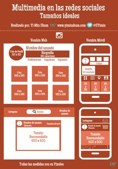 Tamaño ideal de multimedia para Instagram #infografía