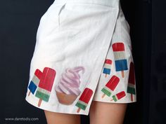 DIY Project: califonian vintage ice cream skirt