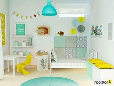 roomor!:kids room project, roomor!: Before and after kids room, kids space, girl room, kiddo,