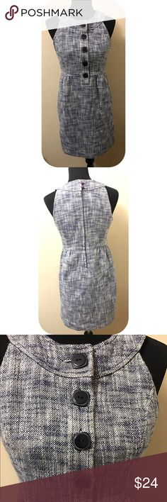 Tibi sleeveless Tweed shift dress Gently worn - sleeveless - lined - button front - cotton - zippered back Tibi Dresses