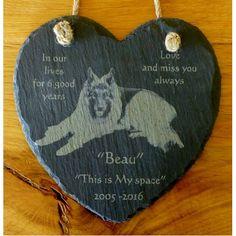 Slate Heart Hanger - Personalised
