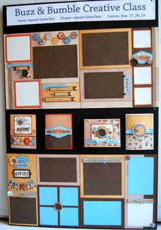 layouts and cards by Diana Veenendaal using CTMH Buzz and Bumble paper