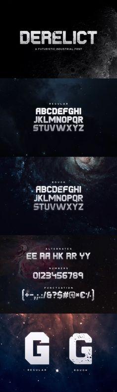 Derelict Typeface #font