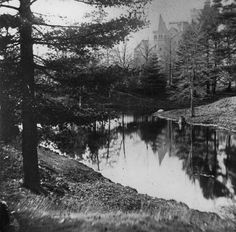 Grounds of University College, Toronto by William Notman Toronto Ontario Canada, Toronto City, University Of Toronto, University College, Toronto Neighbourhoods, Lost River, Historical Pictures, Landscape Photos, Old Pictures