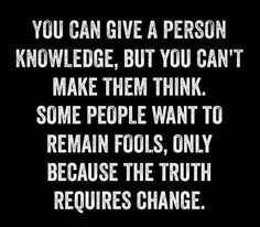 So true !!! Some never changed they act like they have !!