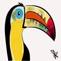 Toucan Art Print by transFIGure | Society6