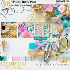 Lolly Bag - PU {by reginafalango} 12th Birthday, Birthday Celebration, Happy Birthday, Lolly Bags, Digital Scrapbooking, Products, Happy Brithday, Urari La Multi Ani, Happy Birthday Funny