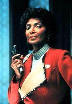 Nichelle Nicols as Lt. Uhura.