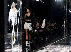 Pin for Later: Step Inside Rihanna's Fashion Week Show The Set Was Moody and Mirrored