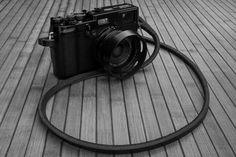 Fuji Black edition with Gordy's strap Fuji X100, Fuji Camera, Black Edition, Camera Gear, Love Photography, Airplanes, Cameras, Gears, Porn