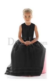 black tulle flower girl dress