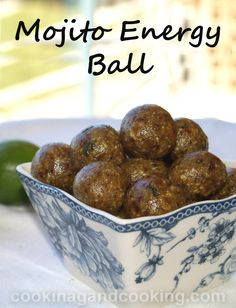 Mojito Energy Ball recipe is a healthy snack recipe that tastes good enough to serve as a dessert too.