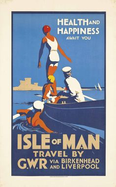 Posters Uk, Train Posters, Railway Posters, Retro Poster, Poster Ads, Advertising Poster, Robert Louis Stevenson, Isle Of Man, Travel Ads