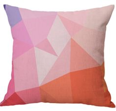 Colorful Geometric Design Cotton With Linen Car Backrest Digital Printed Cushion Cover