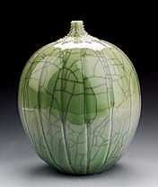 1995  Cliff Lee   Born: Vienna, Austria 1951   porcelain and celadon glaze