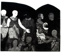 """Belkis Ayón, """"Perfidia (Perfidy)"""" (1998), collograph, collection of the Belkis Ayón Estate"""