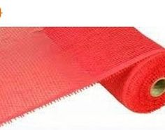 20% OFF Red Plain Paper Mesh Roll CR050-12, 21 Inches X 5 Yards