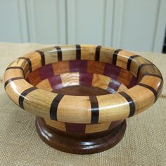 Segmented bowls are just that. Segments are cut from a variety of woods, glued…