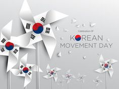 Korean Movement Day Background on March with Vane paper
