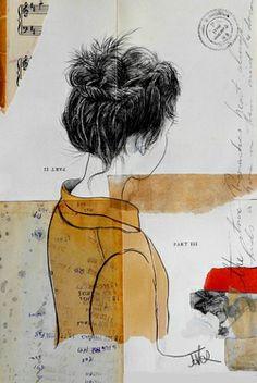 "Saatchi Online Artist Loui Jover; Drawing, ""the sunday romantic"" #art"
