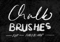 Chalk Brushes for Photoshop by RaeofSunshine on @creativemarket