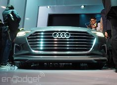 Audi's A7 piloted-driving car drove itself from San Francisco to Las Vegas; that's more than 550 miles.   #selfdriving #CES2015 #Audi