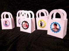 Justin Bieber Birthday Party   12ct JUSTIN BIEBER treat bag favor personalized by JayPeaCreations, $15.00